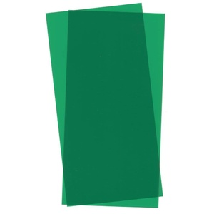 "Evergreen 9903 Green Transparent Plastic Sheet 6 x 12 x .010"" Qty 2"