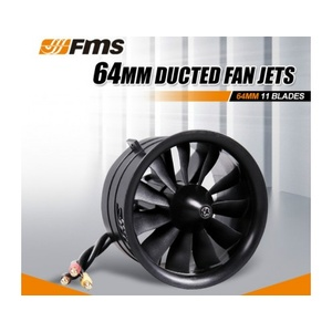 64mm EDF  11 Blades Ducted Fan With Motor 2840-KV3150 (For 4S)