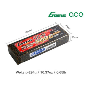 Gens ace 5000mAh 50C 7.4V LiPo Deans Connector Hardcase Battery