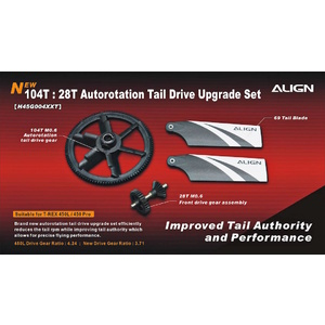 H45G004XXW  104T 28T Autorotation Tail Drive Upgrade Set