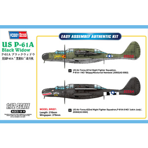 US P-61A Black Widow 1:72 Model 1:72 Plane 87261