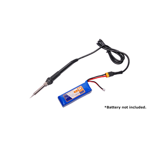 battery Powered Soldering Iron 30W DC 12V w/XT60 Connector (3S LiPo Powered)