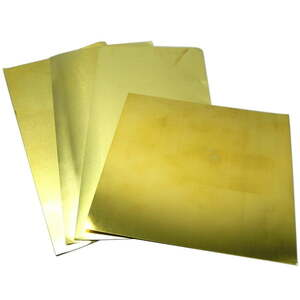 1 Pack Sheet Brass Assortment 4 different sizes
