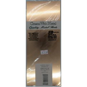 1 Pack od  .016'' Copper Sheet 4x10'' KS277