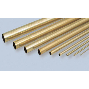 "KS Metals, Round Brass Tube 305mm - 11/32 x .014 x 12"" 1 Piece KS8134"