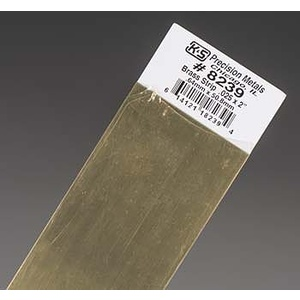 .025''x2''x12'' Brass Strips (1) KS 8239