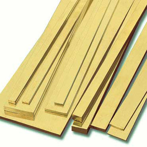 KS Metals, Brass Strip 300mm - 1mm x 6mm x 300mm 3 Pieces KS9843