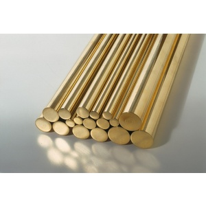 KS Metals, Round Brass Rod 300mm - 1mm x 300mm 5 Pieces KS9861