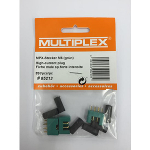 Multiplex High Current M6 Plug (3pk) Male MPX85213