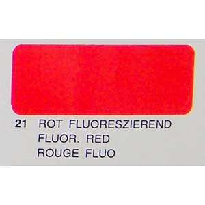 Profilm Fluro Red 2 meters PFFLRED21