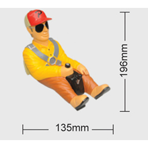 Painted 1/5Scale Full Length Glider Pilot W/ Peak Hat #80038