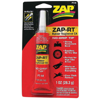 Zap PT44 ZAP-RT Rubber Toughened Cyanoacrylate Glue Clear Thick 1 oz