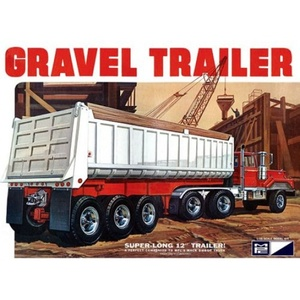 MPC 1/25 3 Axle Gravel Trailer # 823 - Plastic Model Kit