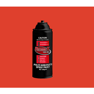 SPRAY PAINT, EVOLUTION RED, 180ML Polycarbonate [RBPCS104]