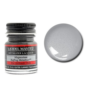 Model Master Magnesium Buff Metallic Metalizer 1/2 oz #1403