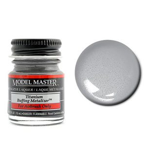 Mouse over image to zoom Have one to sell? Sell it yourself Details about  Model Master 1404 Titanium Buffing Metalizer 1/2 oz Lacquer Paint Bottle