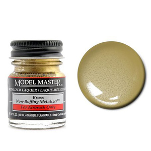 Model Master Brass No Buff Metallic 1/2 oz Metalizer #1417