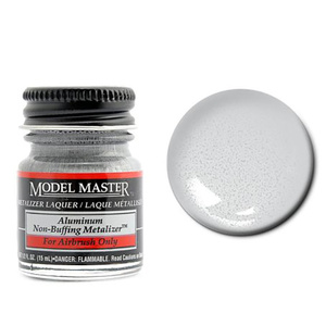 Model Master Aluminum No Buff Metallic Metalizer 1/2 oz #1418