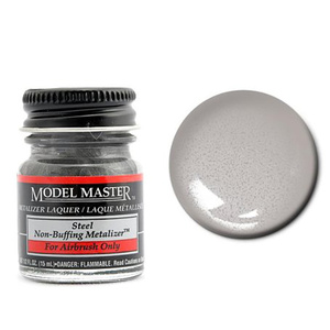 Model Master Steel No Buff Metallic 1/2 oz #1420