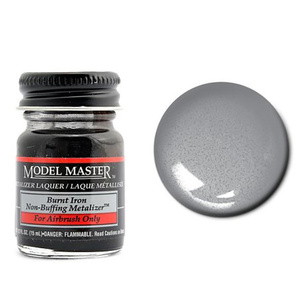 Model Master Burnt Iron No Buff Metallic 1/2 oz #1424
