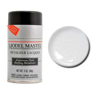 Model Master Spray Aluminum Plate Metalizer Buff 3 oz #1451