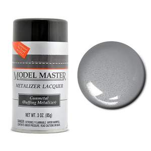 Model Master Spray Gunmetal Buff Metalizer 3 oz #1455