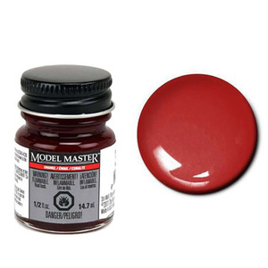 Model Master Turn Signal Red Gloss 1/2 oz -- Hobby and Model Enamel Paint -- #2756