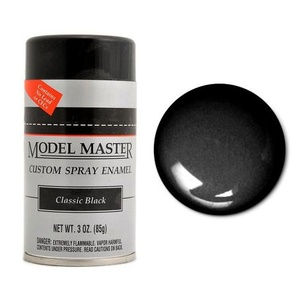 MODEL MASTER Spray Paint Classic Black 3 oz - 85G #2921