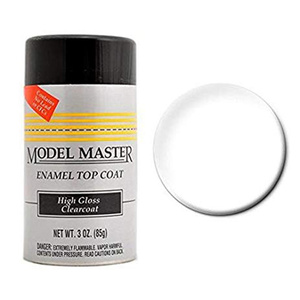 Spray Clear Top Coat 3 oz -- Hobby and Model Enamel Paint -- #2936