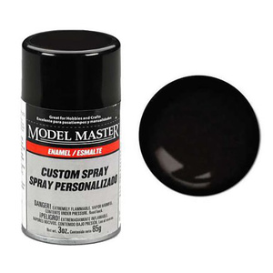 Model Master 2962 Semi Gloss Black  Custom Enamel Spray Paint