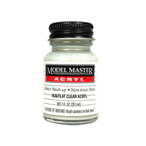 Clear - Flat 4636 - 1 oz. Acrylic Paint Top Coat by Model Master