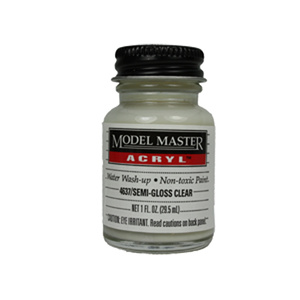 Clear - Semi-Gloss 4637 - 1 oz. Acrylic Paint Top Coat by Model Master