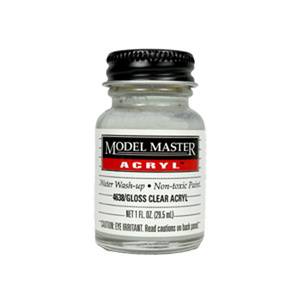 Clear - Gloss 4638 - 1 oz. Acrylic Top Coat by Model Master