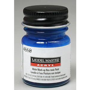 Model Master 4661 Ford/GM Engine Blue 1/2 oz Acrylic Paint Bottle