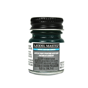 Dark Pearl Green Acrylic Paint  - Gloss 4670 - 1/2 oz. Bottle by Model Master