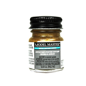 Gold - Gloss Acrylic Paint 4671 - 1/2 oz. Bottle by Model Master
