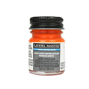 Fluorescent Red Acrylic Paint FS28915 - Flat 4703 - 1/2 oz. Bottle by Model Master