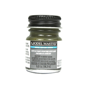 Green Drab FS34086 Acrylic Paint - Flat 4727 - 1/2 oz. Bottle Acrylic by Model Master