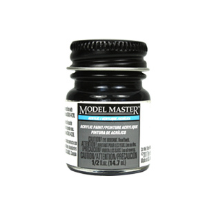 Aircraft Interior Black FS37031 Acrylic Paint - Flat 4767 - 1/2 oz. Bottle Acrylic by Model Master
