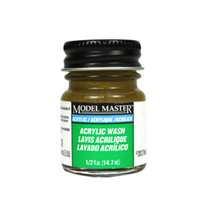 Brown Detail Wash Acrylic Paint - Flat 4872 - 1/2 oz. Wash Acrylic by Model Master