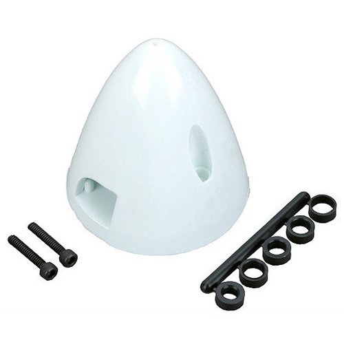 "DUBRO 1-1/2"" Spinner White (QTY/PKG: 1) DUBRO260"