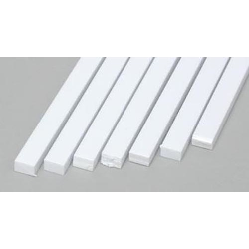 "Evergreen 177 Styrene Styrene Strips .100x.156"" (2.5 x 4.0mm) Qty 7"