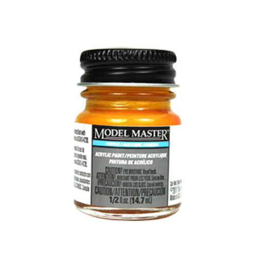 Turn Signal Amber Acrylic Paint - Gloss 4624 - 1/2 oz. Bottle by Model Master