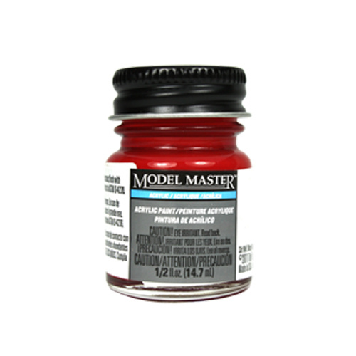 Transparent Red Acrylic Paint - Gloss 4630 - 1/2 oz. Bottle Acrylic by Model Master