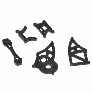 HBX Chassis Side Plates B+Shock Towers #12006