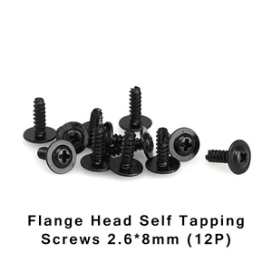 HBX S160 Screws 2.6x8mm Flange Head Self Tapping 12 Pieces