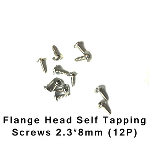 HBX S167 Screws Flanged  2.3x8mm Self Tapping 12 Pieces