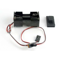 Traxxas 1523: Battery holder with on/off switch/ rubber on/off switch cover