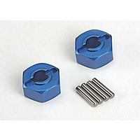 Taxxas 1654X: Wheel hubs, hex blue-anodized