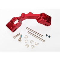 Traxxas 1952A: Carriers, stub axle (red-anodized 6061-T6 aluminum)(rear)(2)
